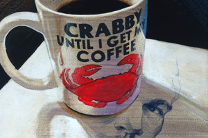 Coffee painting crop