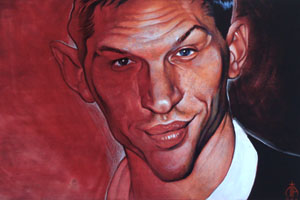 Tom Hardy painting cropped
