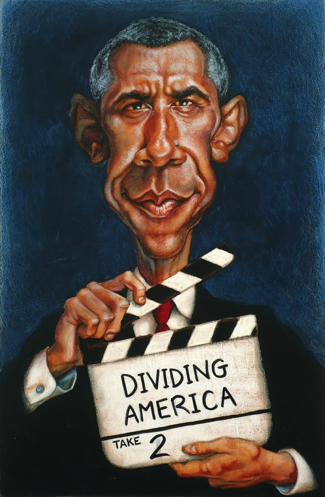 An illustration of President Obama.
